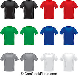 Vector shirts - Color Shirts - Vector Illustration - Eps