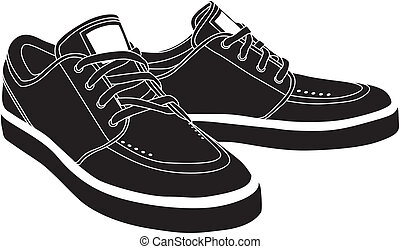 vector, shoes, deporte