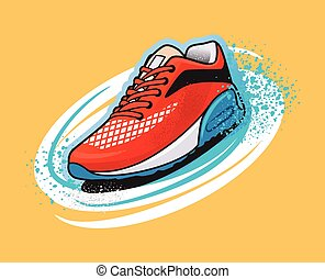 Vector shoes graffiti illustration