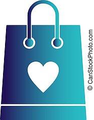 vector shopping bag icon
