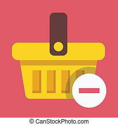 Vector Shopping Basket Remove