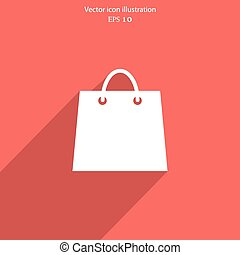 Vector shopping basket web flat icon.