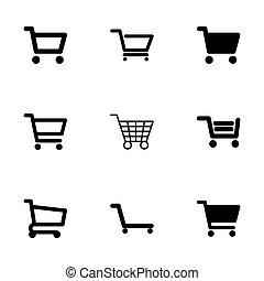 Vector shopping cart icon set