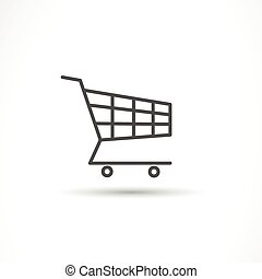 Vector Shopping Cart Icon - Vector Illustration of a...