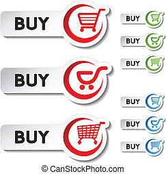 Vector shopping cart item - buy button
