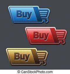 shopping cart item - buy button