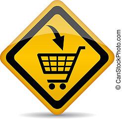 Vector shopping cart sign