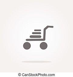 vector shopping cart web icon button