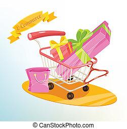 Vector shopping concept illustratio
