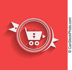 Vector shopping icon flat modern design