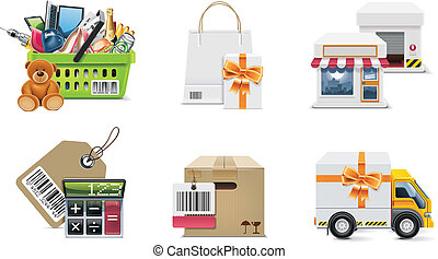 Vector shopping icon. P.2 - Set of the shopping...