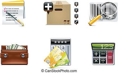 Vector shopping icon. P.4