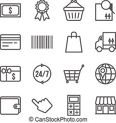 Vector shopping icons set