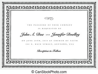 Vector Short Ornate Vintage Frame. Easy to edit. Perfect for...