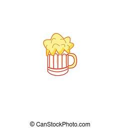 Vector sign beer mug color