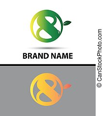Vector sign Eco number eight logo