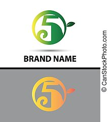 Vector sign Eco number five logo