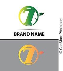 Vector sign Eco number seven logo