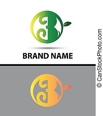 Vector sign Eco number three logo