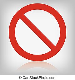 vector sign forbidden isolated