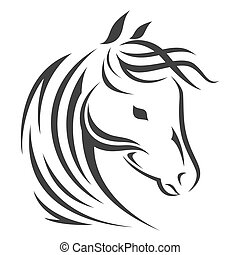 Vector sign. Horse logo.