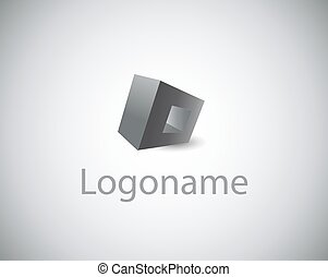 Vector sign logo name - Vector sign abstract geometric shape...