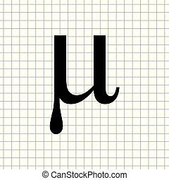 Vector sign Mu