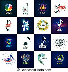 Vector sign music. Illustration of musical notes..