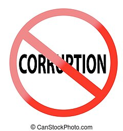 Sign - No Corruption
