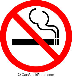"Vector sign ""No smoking"""