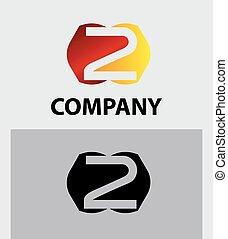 Vector sign number 2 logo