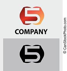Vector sign number 5 logo