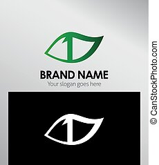 Vector sign number one logo