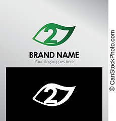 Vector sign number two logo