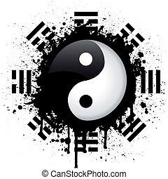 vector sign of yin yang