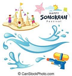 Vector sign songkran festival of Thailand