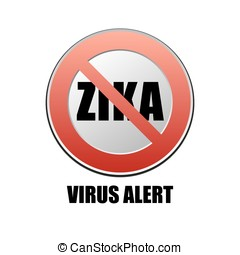 Zika virus - vector sign Zika virus alert