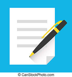 Vector Signing Document Icon