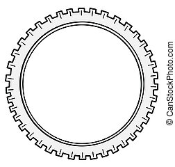 vector silhouette cogwheel on white background