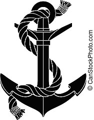vector silhouette graphic anchor