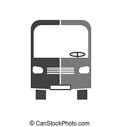 Vector silhouette icon of a bus