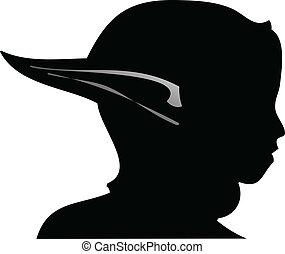 elf - vector silhouette illustration of elf