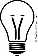 silhouette of a bulb