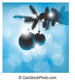 Vector silhouette of a Christmas decorations