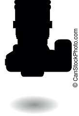 Vector silhouette of a digital SLR