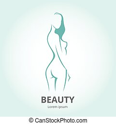 Vector silhouette of a girl in profile template logo or an abstract concept for beauty salons.eps
