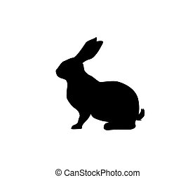 Vector silhouette of a hare. Isolated on white background. For packaging, logo or icon design
