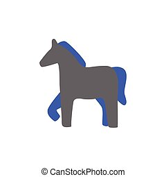 Vector silhouette of a horse icon