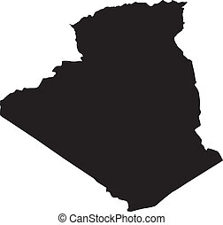 vector silhouette of Algeria