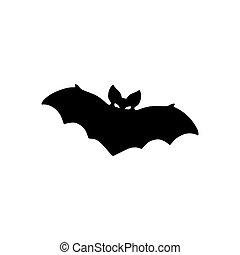 Vector silhouette of bat